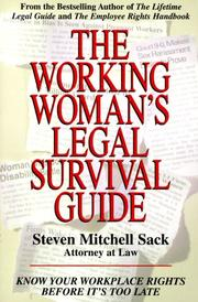 Cover of: The Working Woman's Legal Survival Guide