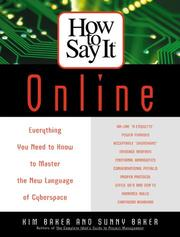 Cover of: How to say it online | Kim Baker