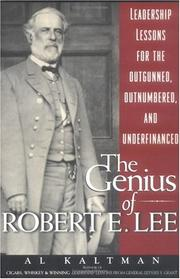 Cover of: The genius of Robert E. Lee