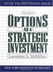 Cover of: Options as a Strategic Investment | Lawrence G. McMillan