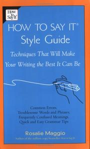Cover of: The How to Say It Style Guide