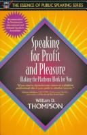 Cover of: Speaking for profit and pleasure