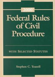 Federal Rules of Procedure by Stephen C. Yeazell