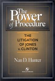Cover of: The power of procedure | Nan D. Hunter