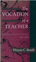 Cover of: The Vocation of a Teacher