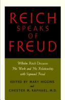 Cover of: Reich speaks of Freud