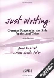 Just writing by Anne Enquist
