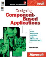 Cover of: Designing component-based applications | Mary Kirtland