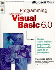 Cover of: Programming Microsoft Visual Basic 6.0