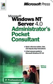 Cover of: Microsoft Windows NT 4.0 Administrator's Pocket Consultant (Independent Administration/Support)