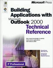 Cover of: Building applications with Microsoft Outlook 2000 | Randy Byrne