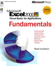 Cover of: Microsoft Excel 2000 Visual Basic for applications fundamentals
