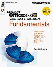 Cover of: Microsoft Office 2000/visual basic for applications fundamentals