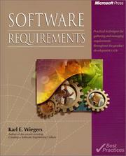 Cover of: Software Requirements