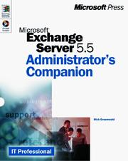 Cover of: Microsoft Exchange Server 5.5 Administrator's Companion