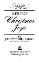 Cover of: Best of Christmas Joys | Joan Winmill Brown