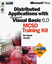 Cover of: Distributed Applications with Microsoft Visual Basic 6.0 MCSD Training Kit (Dv-Mcsd Training Kit) | Microsoft Corporation.