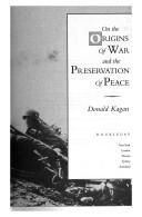 Cover of: On the origins of war and the preservation of peace