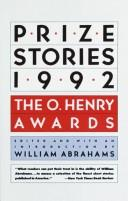 Cover of: PRIZE STORIES 1992 (Prize Stories)