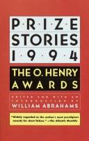 Cover of: PRIZE STORIES 1994 (Prize Stories)