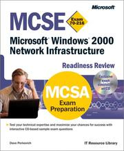 Cover of: MCSE Microsoft Windows 2000 network infrastructure readiness review : exam 70-216