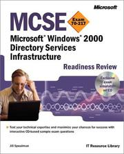 Cover of: MCSE Microsoft Windows 2000 Directory Services Infrastructure Readiness Review, Exam 70-217 (With Cd-ROM)