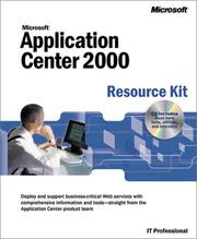 Cover of: Microsoft Application Center Resource Kit