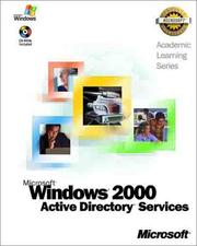 Cover of: Microsoft Windows 2000 Active Directory Services (Academic Learning Series)
