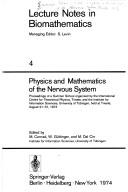 Cover of: Physics and mathematics of the nervous system