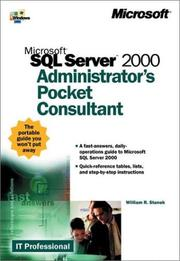 Cover of: Microsoft  SQL Server(TM) 2000 Administrator's Pocket Consultant (It-Administrator's Pocket Consultant)