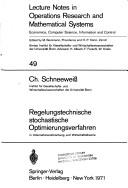 Cover of: Regelungstechnische Stochastische Optimi
