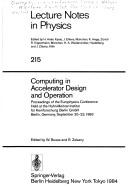 Cover of: Computing Accelerator Design and Operation