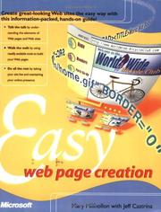 Cover of: Easy Web page creation