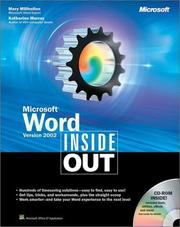 Cover of: Microsoft Word version 2002 inside out