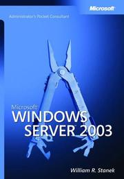 Cover of: Microsoft Windows server 2003: administrator's pocket consultant