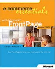 Cover of: E-Commerce Essentials with Microsoft FrontPage Version 2002