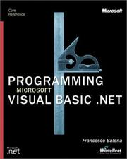 Cover of: Programming Microsoft Visual Basic.Net (core reference)