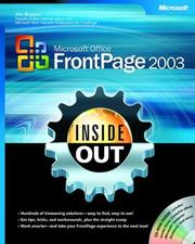 Cover of: Microsoft Office FrontPage 2003 inside out