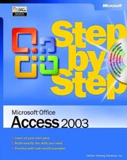Cover of: Microsoft Office Access 2003 Step by Step | Online Training Solutions Inc.