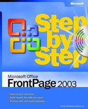 Cover of: Microsoft Office FrontPage 2003 Step by Step | Online Training Solutions Inc.