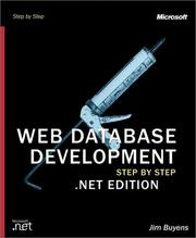 Cover of: Web Database Development Step by Step .NET Edition