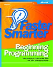 Cover of: Faster Smarter Beginning Programming