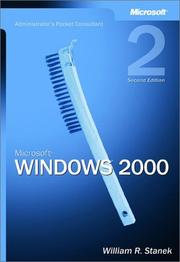Cover of: Microsoft Windows 2000 administrator's pocket consultant