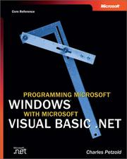 Cover of: Programming Microsoft Windows with Microsoft Visual Basic .NET (Core Reference)