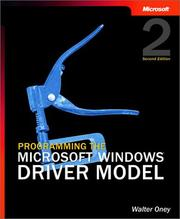 Cover of: Programming the Microsoft Windows Driver Model