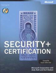 Cover of: Security+ Certification Training Kit | Microsoft Corporation.