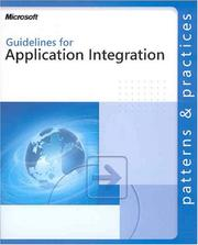 Cover of: Guides for Application Integration (Patterns & Practices) | Microsoft Corporation.
