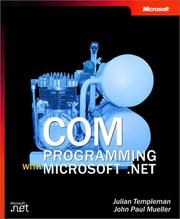 Cover of: COM programming with Microsoft .NET