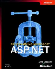 Cover of: Programming Microsoft ASP.NET