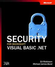 Cover of: Security for Microsoft Visual Basic .NET | Ed Robinson
